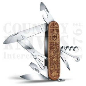 Buy Victorinox Swiss Army 1.3701.63L21 Climber Wood - Swiss Spirit Limited Edition 2021 at Country Knives.