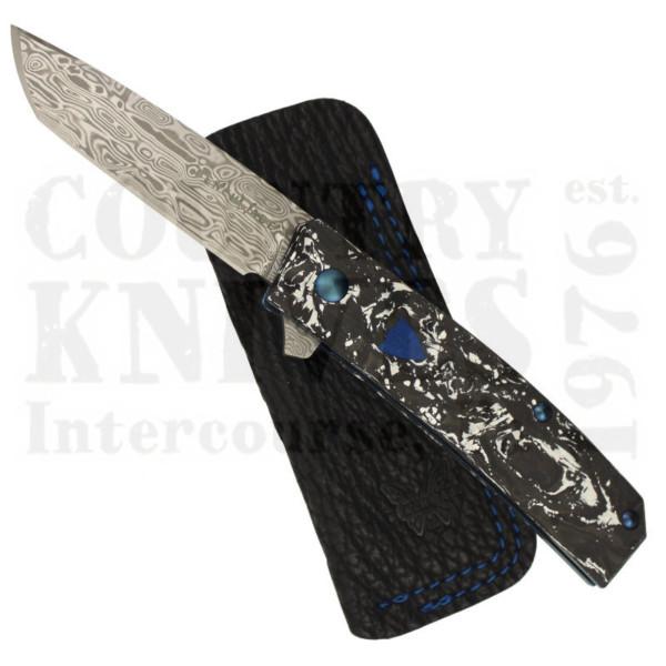 Buy Benchmade  BM601-201 Tengu Flipper - Damasteel / White & Black Marbled Carbon Fiber  at Country Knives.