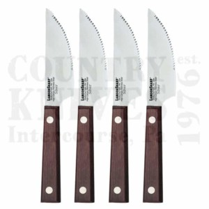 Lamson52994Four Piece Jumbo Steak Knife Set – Silver