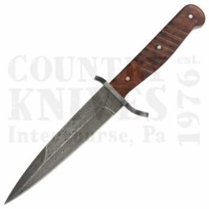 Böker121918 DAMASCUSTrench Knife – Amboyna Burl