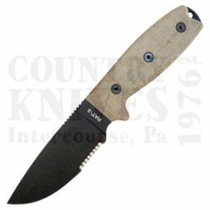 OntarioRAT-3SER4″ Utility Knife – 1095 / Serrated