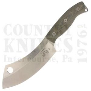 White River Knife & ToolWRCC55-LBOCamp Cleaver – S35VN / Olive Drab & Black Linen Micarta